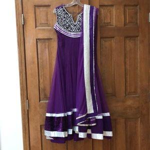 Dresses & Skirts - Designer Purple Anarkali